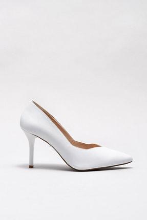 Elle Shoes POIPUU Hakiki Deri Beyaz Kadın Ayakkabı