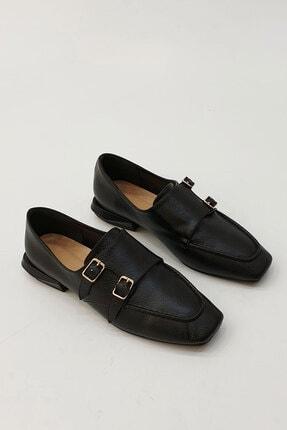 Marjin Kadın Siyah Borino Klasik  Günlük Ayakkabı