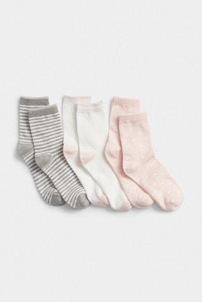 GAP Kids Kız Çocuk 3'Lü Desenli Çorap Seti