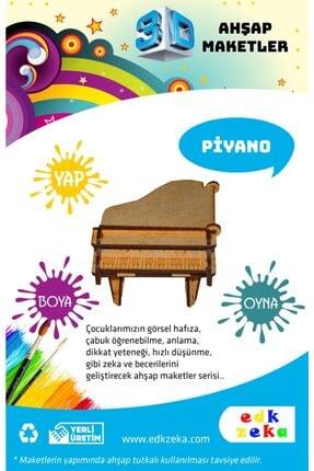 EDKZEKA Ahşap Maket - Piyano - Çocuklar Için Ahşap Boyanabilir Maket