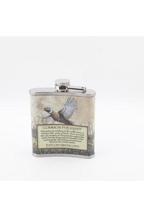 HEDİYESELİ Turna Kuşu Figürlü Içki Matarası 7 Oz