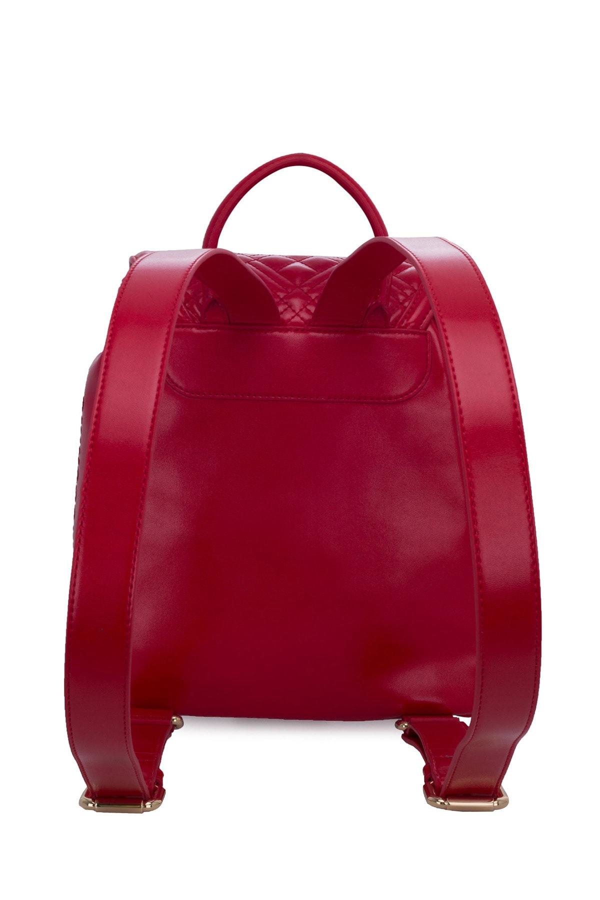 Love Moschino Kadın Kırmızı Logo Baskılı Ayarlanabilir Askılı Çanta Çanta Jc4012pp1bla0500 2