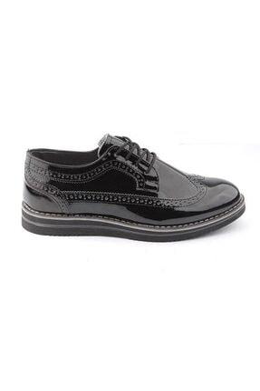 Forza Erkek Sişyah Klasik Rugan  Ayakkabı
