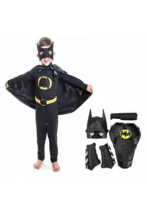 LAZIMBANA Batman Maskeli Pelerinli Batman Kostümü Kalan Kanat Maske