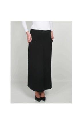 Sedef-cadde Kadın Siyah Hamile Uzun Kumaş Etek 8009