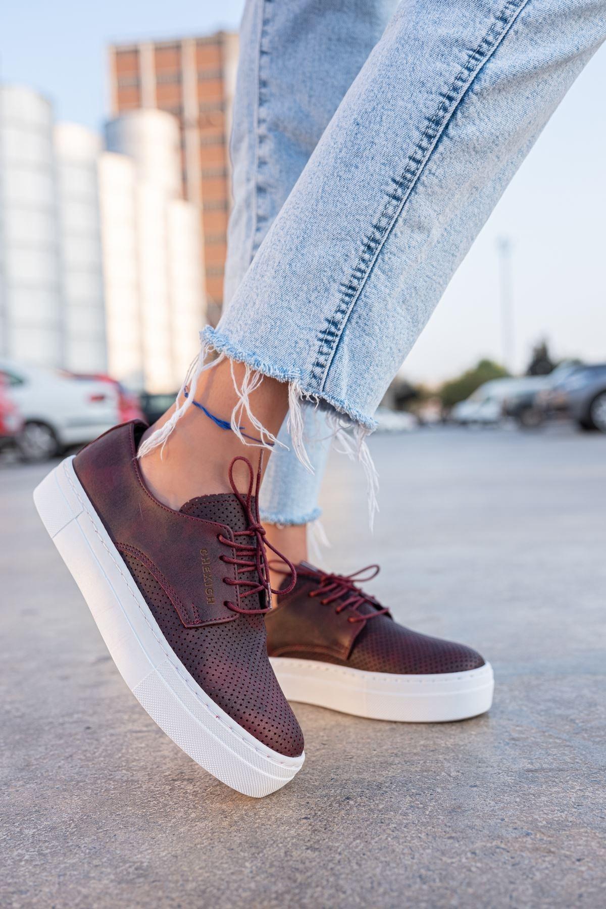 Chekich Ch061 Bt Kadın Ayakkabı Bordo 1
