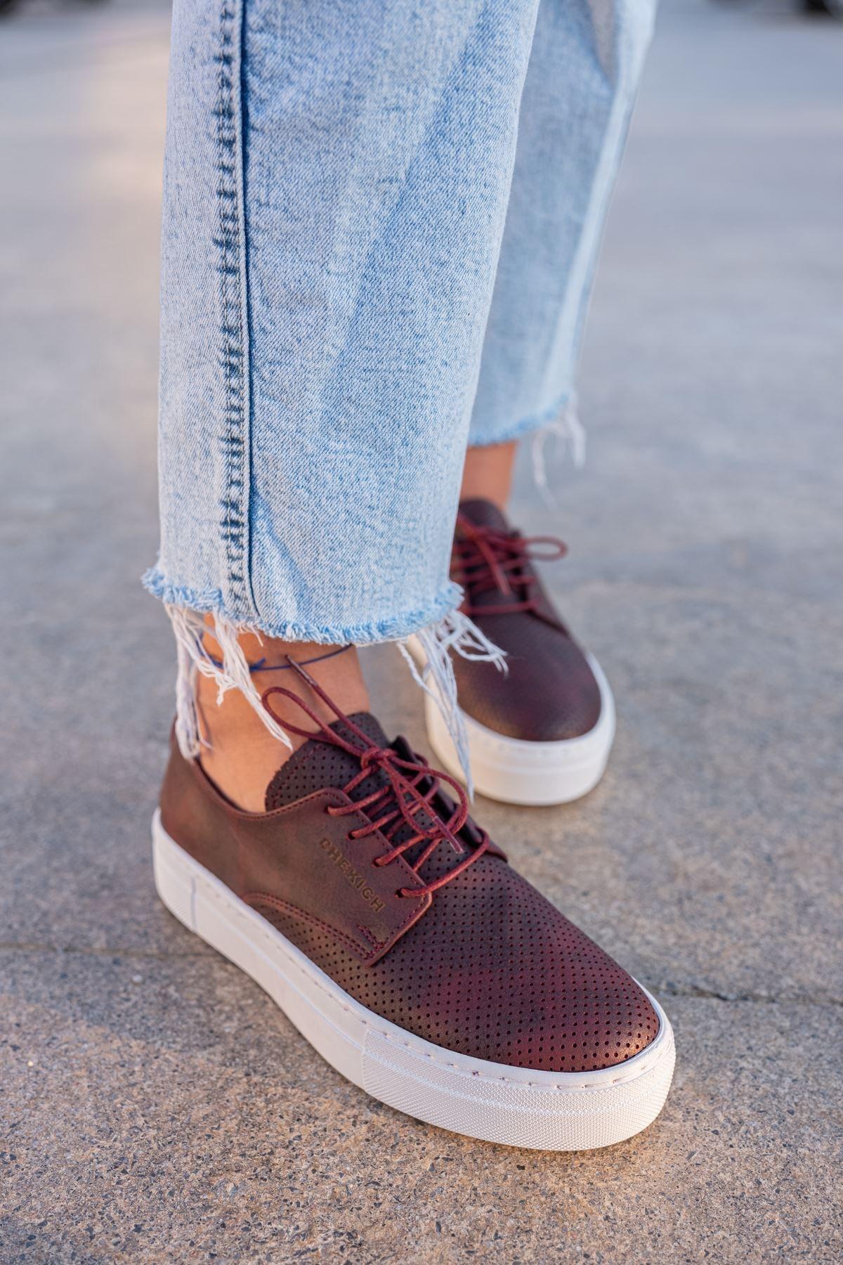Chekich Ch061 Bt Kadın Ayakkabı Bordo 2