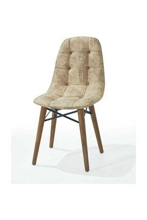 AVVİO Home Ahenk Ahşap Ayaklı Cappuccino Sandalye