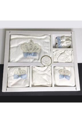 Bebbemini Kız Bebek Beyaz Natural Lüx Organik Hastane Çıkışı Yenidoğan Seti