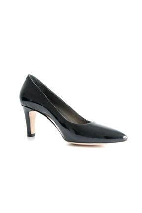Beta Shoes Kadın Siyah Rugan Ayakkabı