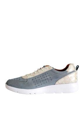 Beta Shoes Kadın Mavi Deri Ayakkabı