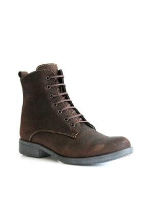 Beta Shoes Kadın Kahve Hakiki Deri Bot
