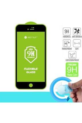 DTTECH Iphone 6/6s Plus Uyumlu 6d 9h Flexible Nano Esnek Ekran Koruyucu Siyah