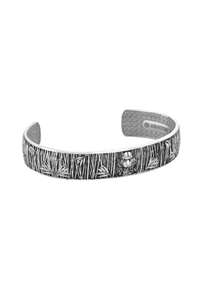 ATOLYESTONE Erkek Kaplan Cuff Gümüş Bileklik 925 Ayar