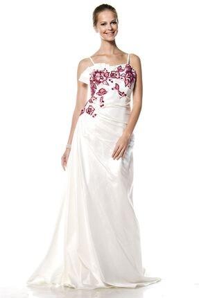 Modayız Kadın Beyaz Abiye Elbise G1-4732