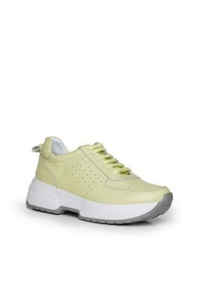 Beta Shoes Kadın Sarı Sneaker Ayakkabı