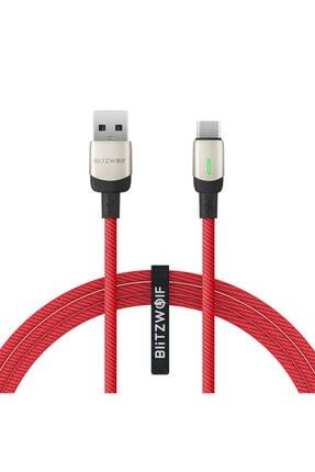 BlitzWolf Bw-tc21 Type-c 3a Led Göstergeli Örgülü Kablo Hızlı Şarj Veri Kablosu - 2m - 6ft - Kablo Düzenleyici