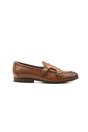 MARCOMEN Taba Klasik Hakiki Deri Örgülü Ayakkabı