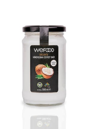 Wefood Organik Sertifikalı Soğuk Sıkım Hindistan Cevizi Yağı 300 ml