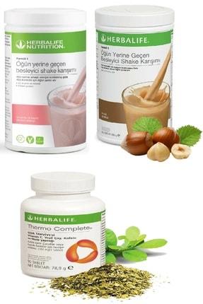 Herbalife Ahududu Beyaz Çikolata Shake + Fındık Shake Ve Thermo Complete