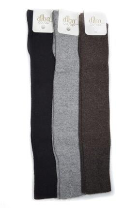 Diba 3 Adet Diz Üstü Lambswool Yün Diz Üstü Kışlık Kadın Çorap