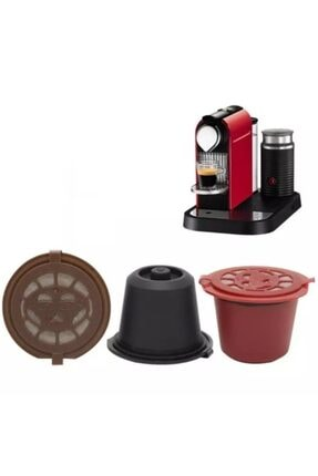 Nespresso Nescafe Tekrar Doldurulabilir Kahve Kapsülü 3 Adet ve Kahve 100 gr