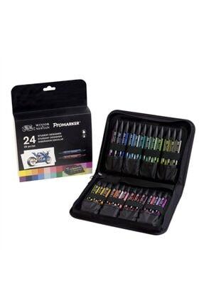 Winsor Newton Winsor & Newton Promarker Kalem 24 Renk Çantalı Set