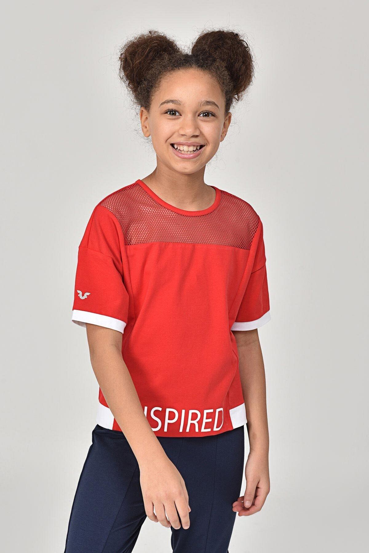 bilcee Kırmızı Kız Çocuk T-Shirt GS-8193 1
