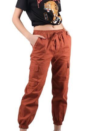 ŞİMAL Kadın Beli Paçası Lastikli Kargo Pantolon