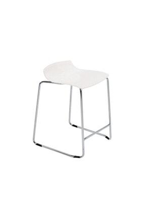 Papatya X-tremee Sled Bar Sandalyesi Otel Restoran Mutfak Kafe Solid Beyaz