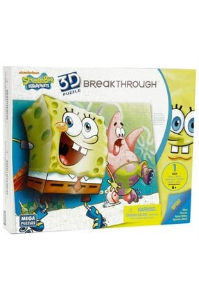 Mega Puzzles Mega Puzzle 110 Parça 3 Boyutlu Puzzle Breakthrough Sponge Bob 2