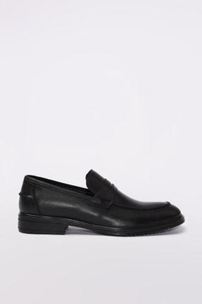 Hotiç Hakiki Deri Siyah Erkek Loafer Ayakkabı 02AYH190560A100