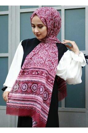 İpekçe  Kadın Pamuklu Çiçek Desen Renkli  Tülbent Şal