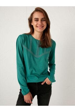 LC Waikiki Kadın Yeşil  T-Shirt