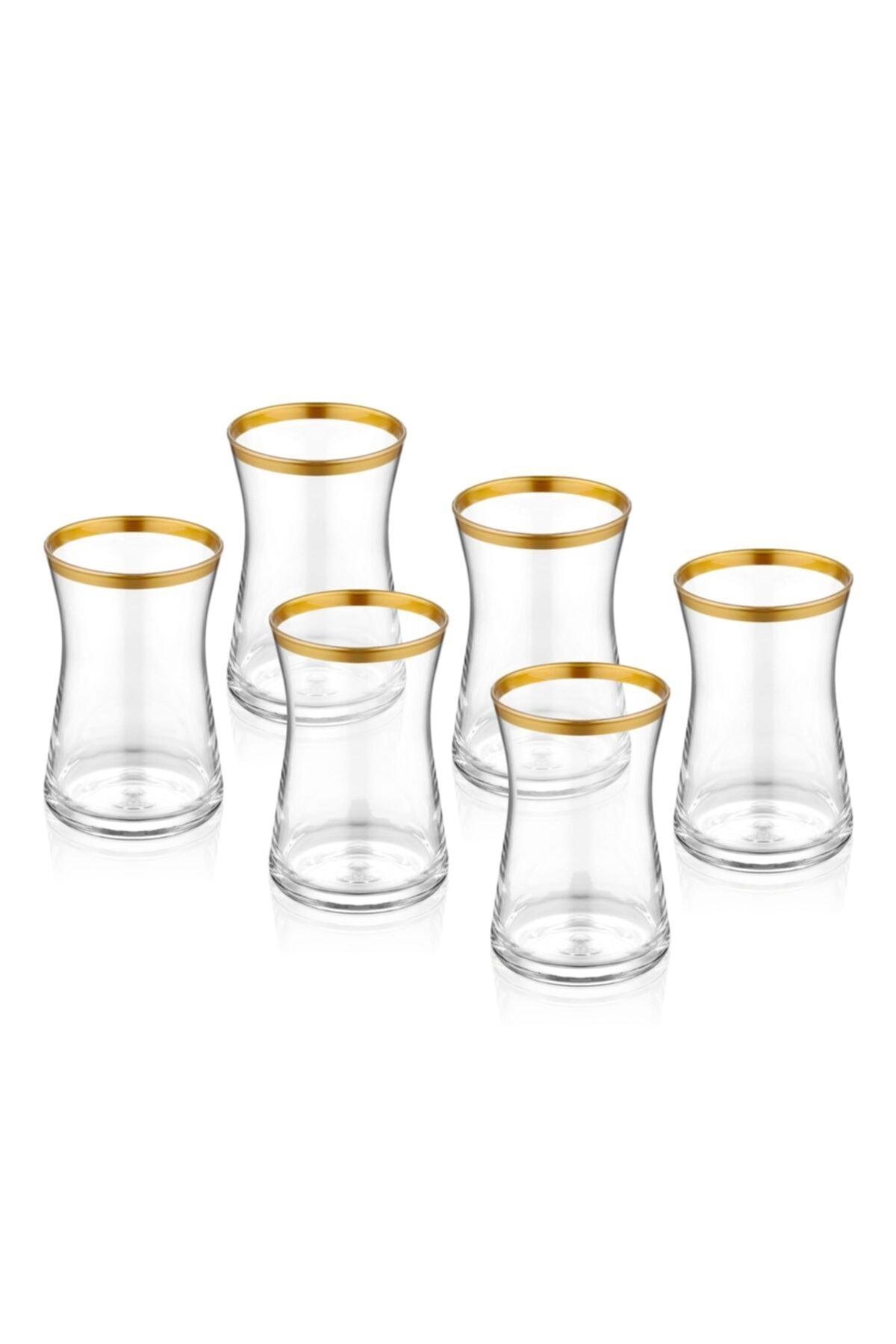 The Mia Glam Çay Bardağı 6 Adet Altın 1