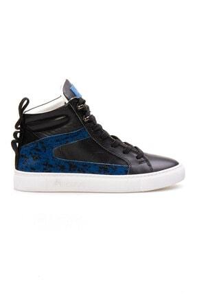 Pegia Kadın Mavi Hakiki Deri Sneaker La1205