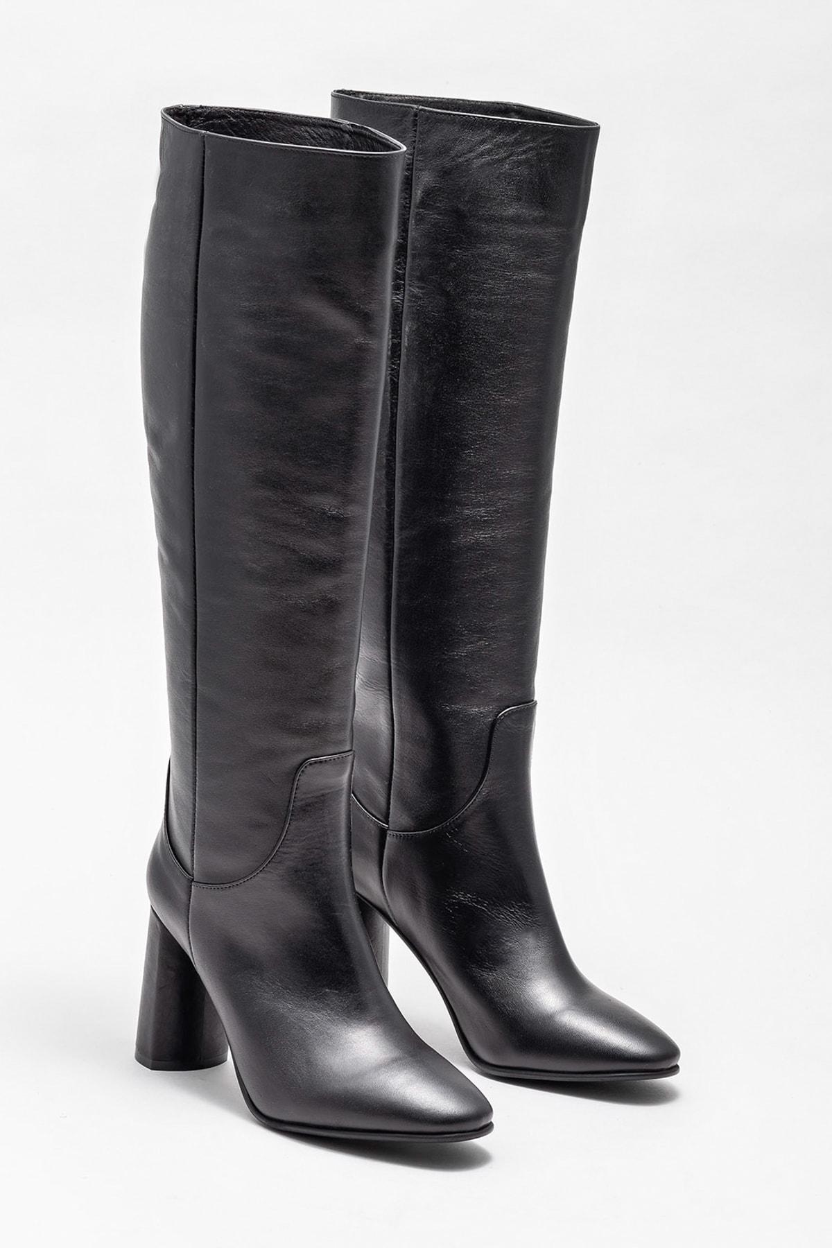 Elle Shoes Kadın Adrano-1 Sıyah Çizme 20K052 2