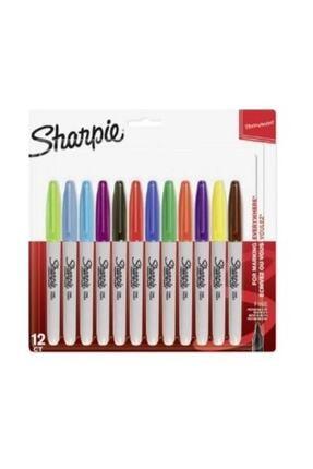Sharpie Fine Karışık Renkler Permanent Markör 12'li Set