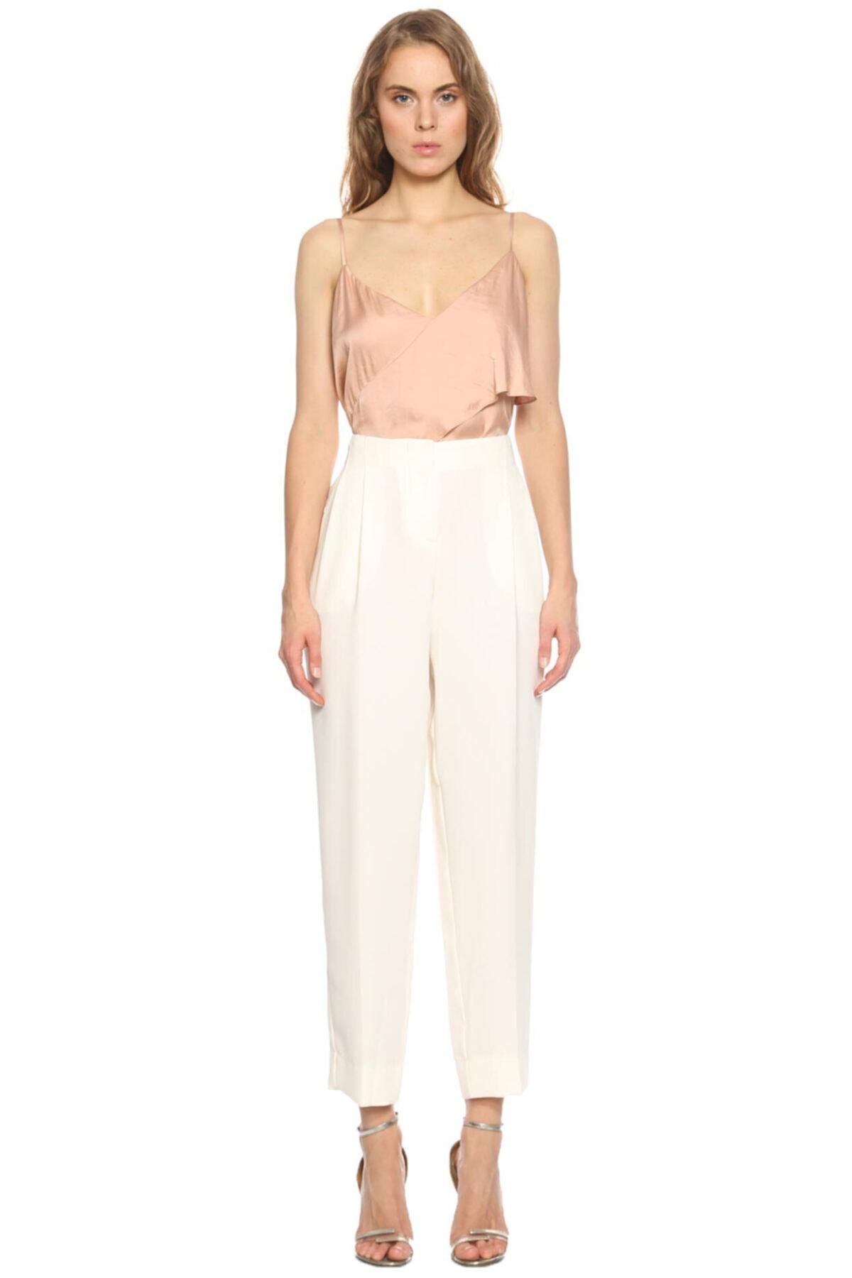 PHILOSOPHY FERRETTI Kadın Beyaz Klasik Pantolon 2