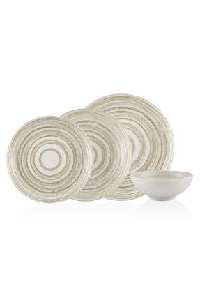 Bernardo Circle  New Bone China Yemek Takımı 6 Kişilik 24 Parça