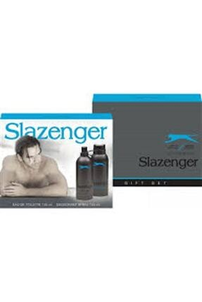 Slazenger Active Sport Mavi 125 ml Erkek Parfüm 150 ml Deodorant Set