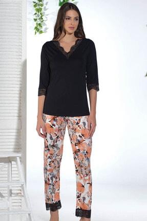 Sevim Kadın Siyah Pijama Takım 12652