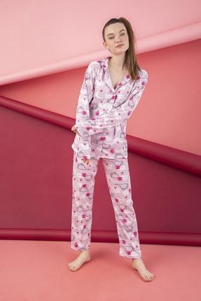 ELİTOL Pamuklu Düğmeli Pijama Takım