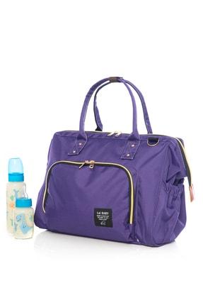 Lal Baby Baggage Bag Mor Omuz Askılı Anne Bebek Bakım Çantası