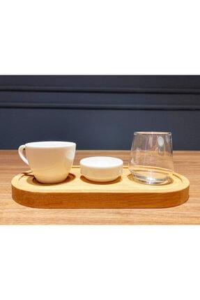 Davi Ahşap Kahve Sunumu-natural Renk