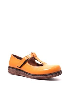 Beta Shoes Hakiki Deri Kadın Kavun Içi Yazlık Ayakkabı