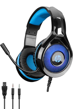 HP Siyah Dhe-8010 Mikrofonlu Led Aydınlatmalı Jack Oyuncu Kulaklığı 2x3,5mm