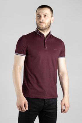 ZEKİ ÖZER Erkek Mürdüm Polo Yaka T-shirt