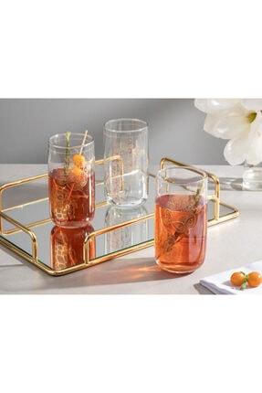 English Home Luba Cam 3'lü Meşrubat Bardağı 365 Ml Gold