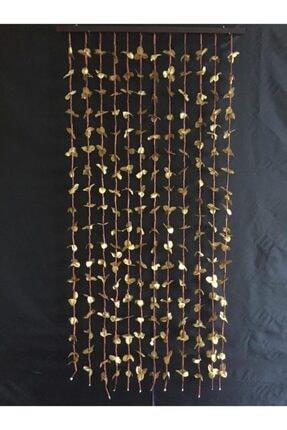 AYDUĞAN ZÜCCACİYE Kapı Süsü Altın Renk Yaprak-Bambu Boncuk 90x180